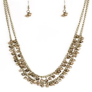 Paparazzi Majestic Marinas Brass Necklace Set